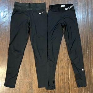 Set of Nike Pro Full Length Dri-Fit Running Tights